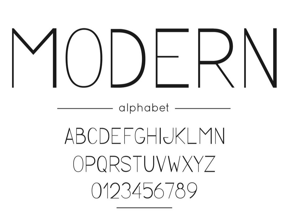 Characteristics of Modern Fonts You Need To Know.