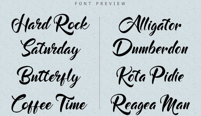 basically choose the font rare to use