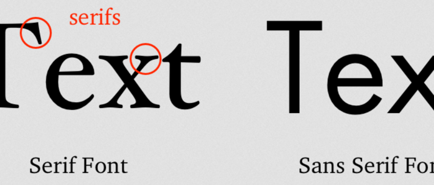 How To Choose The Best Between Serifs Fonts And Non-Serifs Fonts.